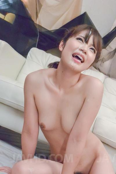 Arousing brunette Yura Kurokawa enjoys in masturbating and giving head on floor