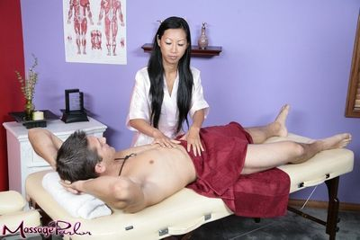 The Asian milf Tia Ling enjoys her pussy licked and mouth filled with the rod