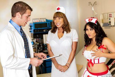 Busty Asian nurse Jessica Bangkok is about to learn a hardcore sex lesson.
