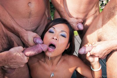 Asian whore jade sin gangbanged in all holes