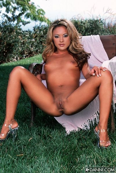 Tight bodied asian Kaylani Lei spreads her legs as soon as she removes her underwear