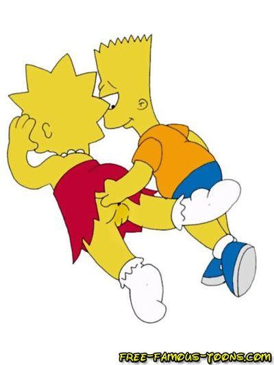 Барт и Лиза Симпсоны знаменитый Мультфильм Секс