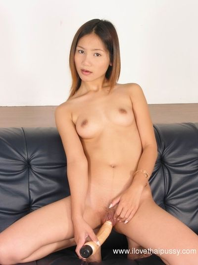 Masturbating session with a tiny tits Asian babe and her toys