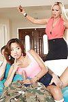 Threesome groupsex features Asian pornstar Alina Li and milf Nikki Benz