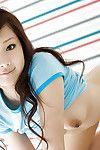 Seductive asian babe Suzuka Ishikawa slipping off her clothes
