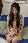 Lingerie girl Yui Hatano tickles the clit until her pussy is wet enough for fingering