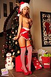 Sexy Christmas lingerie pics with horny Asian babe Kt So