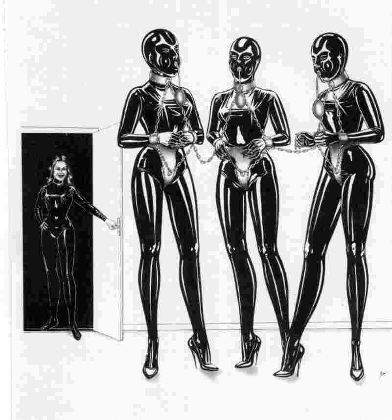 Luscious latex divas with seductive bodies wait for thrilling actions