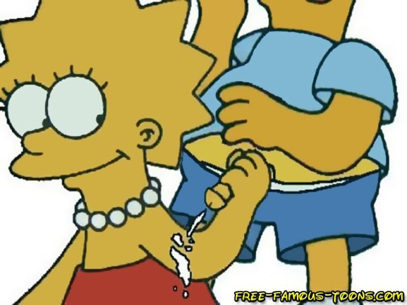 Bart and lisa simpsons famous cartoon sex