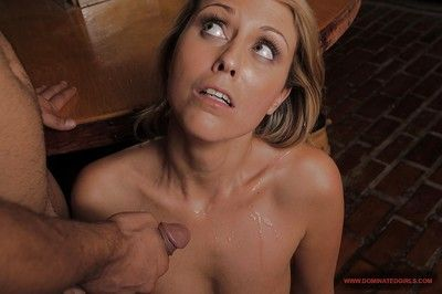 Kinky golden-haired purchases involved adores painful Bondage smokin\