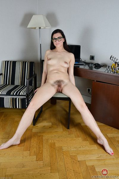 Glasses wearing brown hair Corazon Del Babe erotic dance off sexy