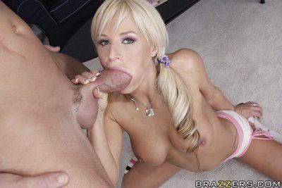 Breathtakingly hot boobsy blonde Brooke Belle adores big cock and basketball