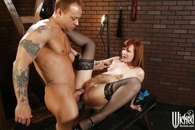 Sweet cutie Claire Robbins is sucking this guy\