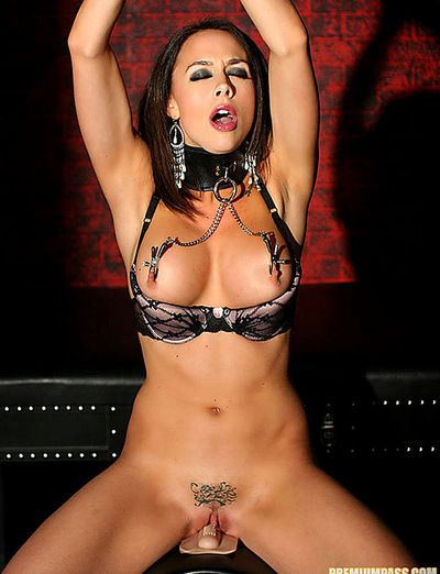 Brunette hotty is a bit wild and in need to play bawdy games