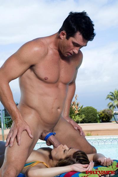 moite seins Latine chico chavon Taylor dans BLEU bikini achats entassés Avec D