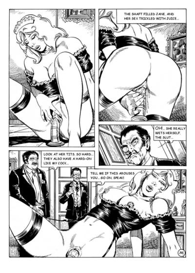 Fairy-haired BDSM admirer in hot lingerie in xxx comics