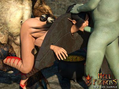Hott elven pretty pride shoved in inflexible fuckholes by horrid hell fuckers