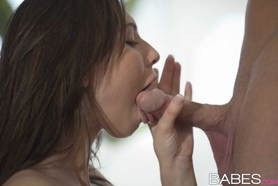 Aidra Fox gets highly sexy when feeling this big cock slamming her unyielding holes