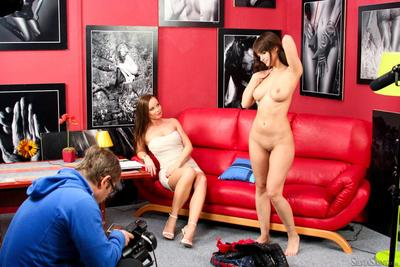 Seducing cuties Rita DDF and Silvia Saint show how sexually aroused and beautiful their naked bodies are
