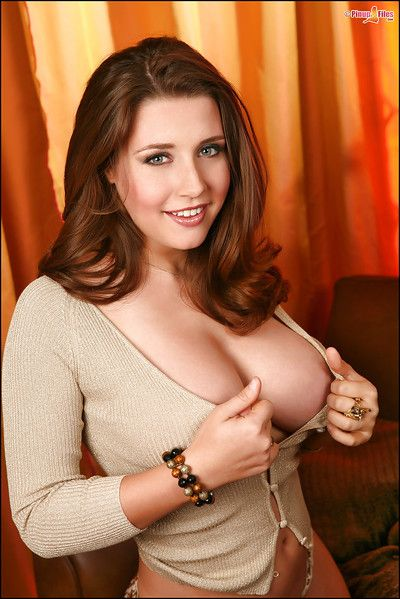 Chesty solo babe Erica Campbell releasing huge front bumpers from thin sweater