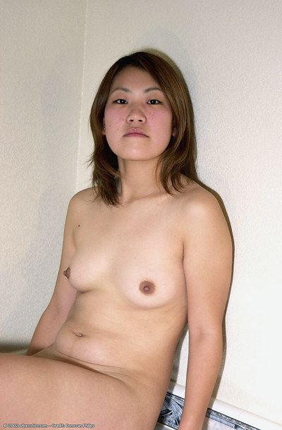 Oriental adolescent Naoko displaying miniature breasts sooner than getting damp in bathtub