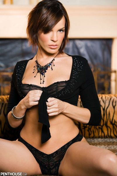 Enchanting Dana DeArmond pulls off this boy tight costume and shorts to show u her slit