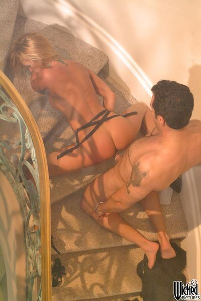Rounded fem Jessica Drake gets bonked in doggy and then this chick pleases the lover orally