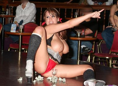Agreeable and intrepid lady Brandy Taylor with useful titties is showing stripping in the public