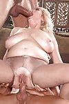 Older lady Tahnee Taylor astonishingly and engulfing 2 studs with gigantic dongs in hosiery