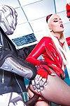 Euro blond Jessie Volt donne oraljob et prend anal À partir de bbc dans cosplay tenue