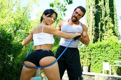 Big butted Latina girl Rebecca Linares is doubtlessly enjoying this rock hard stick