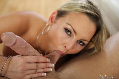Delicious juicy babe Abbey Brooks is having hot cunnilingus and fingering from fucker and sucks his dick