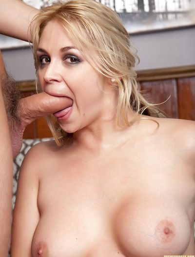 Wild hottie takes huge cock deep down her tight holes and sweet mouth