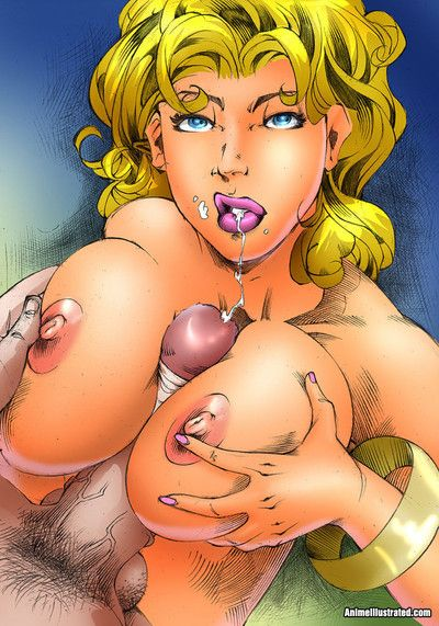 Sexy chicks with big tits fucked hard