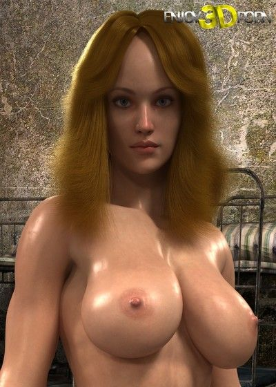 Oiledup prisoner with athletic nude body and giant tits