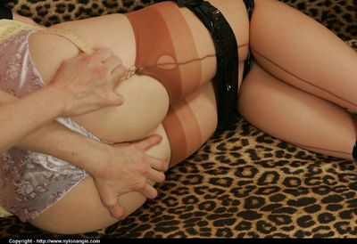 Blindfolded and ballgagged babe gets pleasured by the invisible dominator
