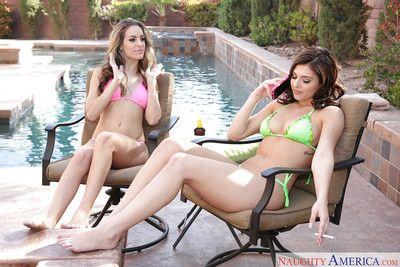 genç porno yıldızları Kimmy Granger ve Leah Gotti Yalamak Dangalak ve Emmek horoz :Tarafından: havuz