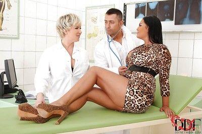 Big-tittied milfs Sandra Boobies and Jasmine Black are rolled