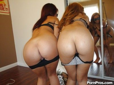 Lesbians with firm asses Madelyn Monroe and Chole Starr take mirror selfies