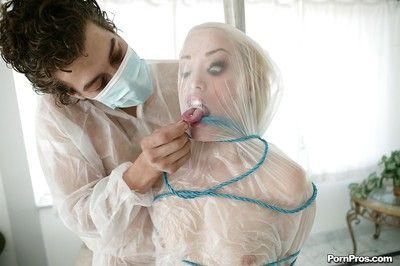 Slutty teen blonde Ash Hollywood fucked in humiliating bondage