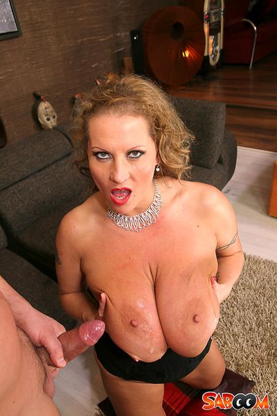 Juicy cock for blonde with amazingly hot boobs, Laura Orsoya