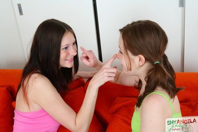 Katie Gold enjoys pure lesbian pleasure along teen eager to lick her vag