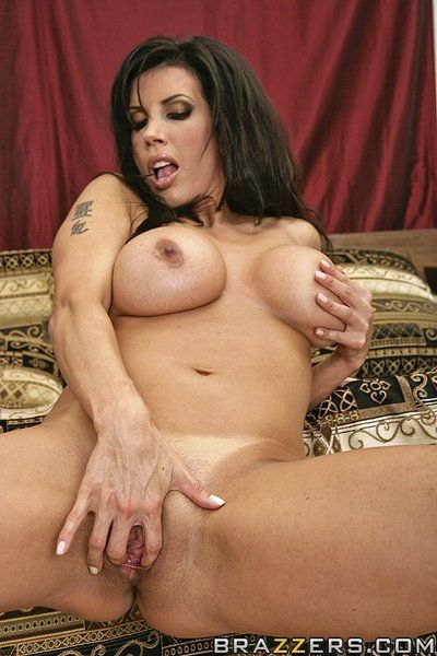 Black haired mommy Shay Sights with giant hooters hops on stiff veiny cock