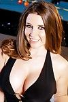 Sultry chick Erica Campbell is fooling around shaking her awesome big melons