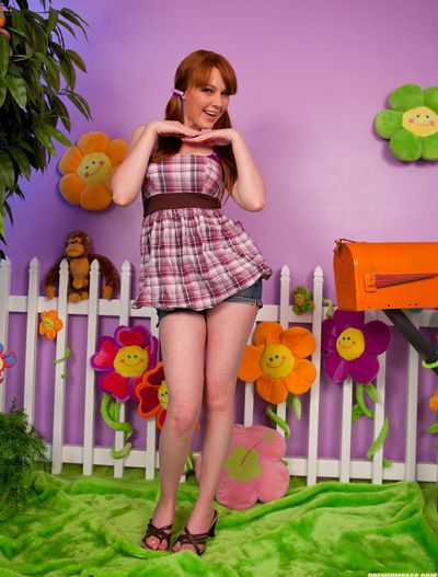 Teen pretty is horny and equipped to gently reach for her wet vag whilst naughty solo