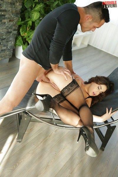 Brunette Euro youthful Nikki Waine sporting dilation anus later butt fucking
