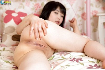Only legal Asian Yui Kawagoe modeling naked in her bedroom