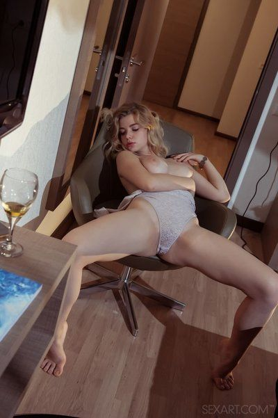 Perspired cunt Daniel Sea in bare feet undressing to finger her tacky shaved love-cage