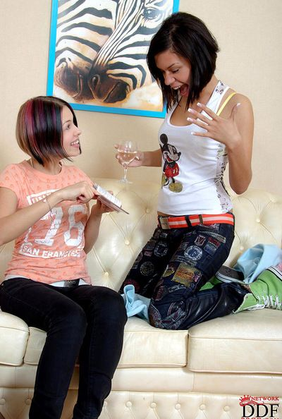 Infant lesbian hotties are having intense satisfaction stimulating one another
