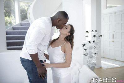 Amateur Latin hottie pornstar Melissa Moore having interracial sexual act with BBC